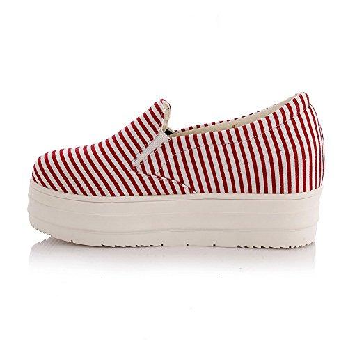 Zapatillas Para Caminar De Uretano Con Punta Redonda Y Zapatos De Mujer De Color Rojo Balamasa Surtidos