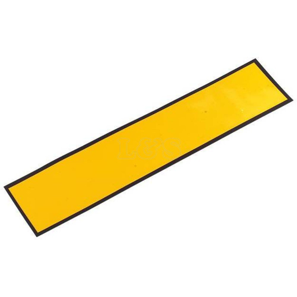 Magnetic Oblong Number Plate - Yellow L&S Engineers