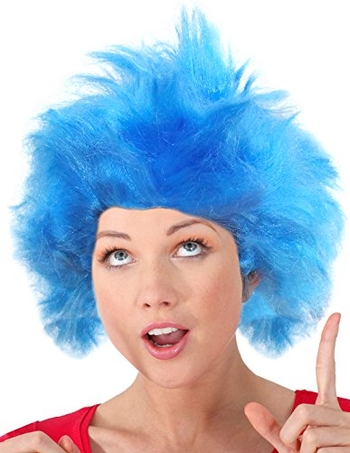 Thing 1 Costume Girl (Costume Adventure Thing 1 and Thing 2 Costumes Wig Blue Troll Wig Blue Thing Wig Thing Two Wig)