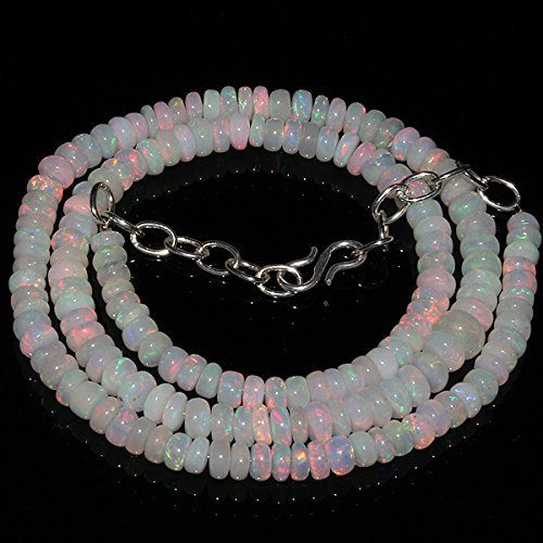 80 Carats Natural Ethiopian Welo Fire Opal Rondelle Beads (Opal Rondelle Beads)