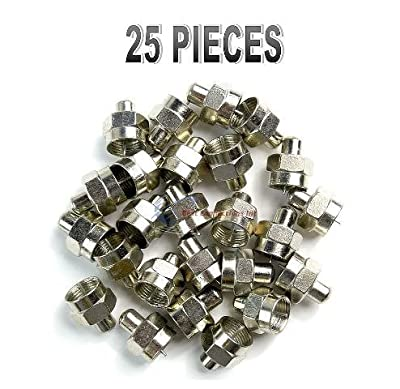 25 Pieces F Type 75 Ohm Terminator Coaxial Satellite TV RF Port End Caps