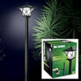 IdeaWorks 60'' Versatile, Two Looks In One Vintage Outdoor Solar LED Lamp Post, Black One-Size