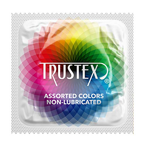 (Trustex Assorted Colors Non-Lube: 100-Pack of Condoms)