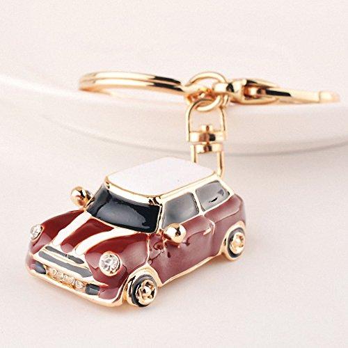 Womens Novelty Rhinestone Car Key Chain Ring Holder Fashion Women Bags Charm Keychain Trinket Souvenir Jewelry CHY-2102 - Trinket Charm Initial