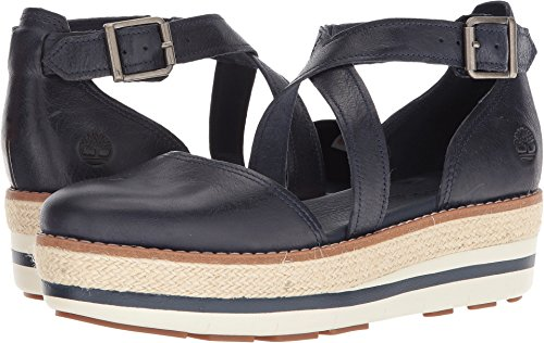 Timberland Women's Emerson Point Closed Toe Sandal Navy Full Grain 9.5 B US