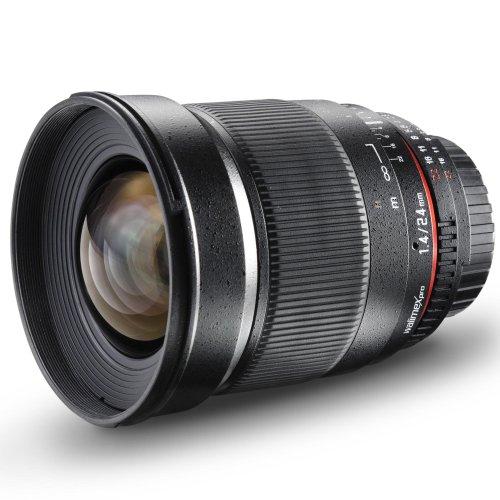Walimex Pro 24mm 1:1,4 DSLR-Weitwinkelobjektiv (Filtergewinde 77mm, IF, AS und ED-Linsen) für Sony A Objektivbajonett schwarz