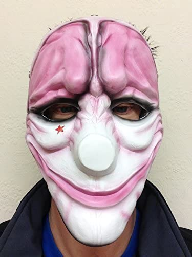 THE HEIST Banco Ladrona Resina Máscaras Hoxton Disfraz Halloween ...