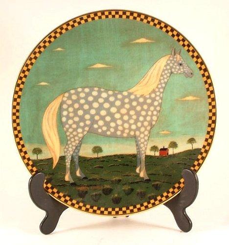 Warren c1994 Lenox Polka Dot Dapple-Gray Horse Plate from Kimble Barnyard Animals - CP910