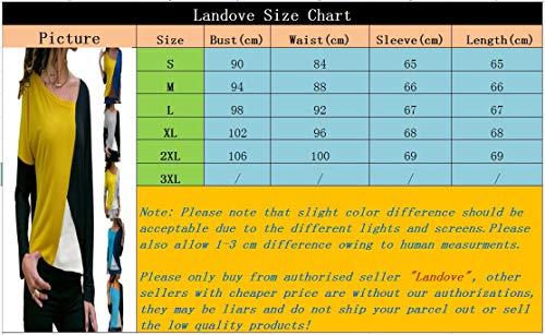 68b2a3665c T-Shirt Maniche Lunghe Donna Moda Basic Tunic Tee Top Colorati ...