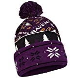 FOCO Baltimore Ravens Exclusive Busy Block Printed Light Up Beanie