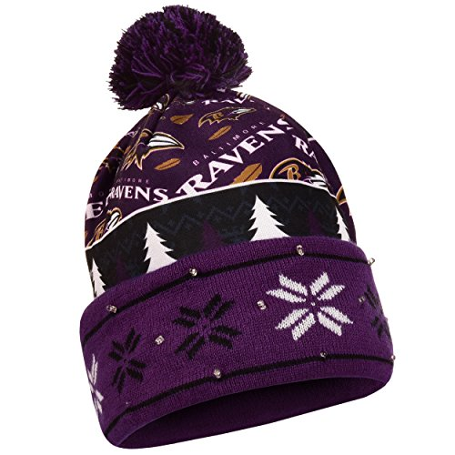 FOCO Baltimore Ravens Exclusive Busy Block Printed Light Up Beanie by FOCO