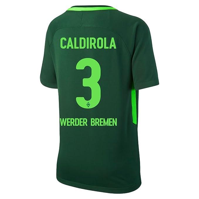 Nike Werder Bremen Home Caldirola Jersey 2017/2018 (Oficial de impresión), Verde: Amazon.es: Deportes y aire libre