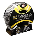 Forever Steel Hose (50') 304 Stainless Steel Garden Hose - As Seen On TV - Lightweight, Kink-Free, and Stronger Than Ever, Durable and Easy to Use