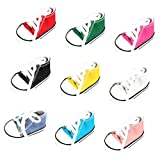 MonkeyJack Pack of 9 Pairs Flat Heel Lace Up Canvas Sneakers Shoes For 18'' American Girl Dolls Dress Up ACCS