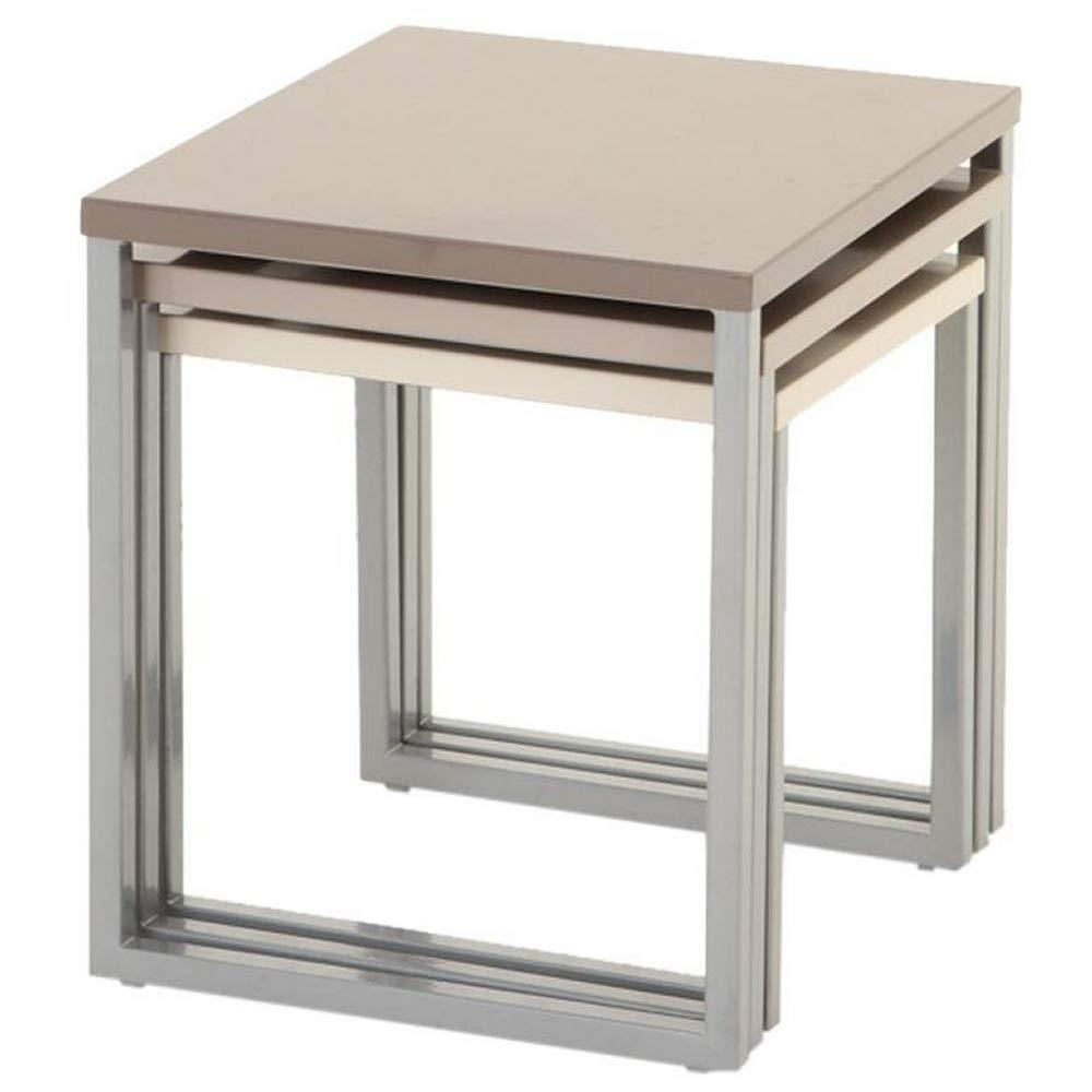 Gigognes Tables De Utilisation Et Extérieure Lot Coloris Intérieure 3 Taupe Basses Tl1JFKc