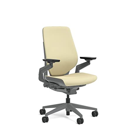 Steelcase Gesture Task Chair: Shell Back   Sterling Dark Solid  Frame/Base/Merle