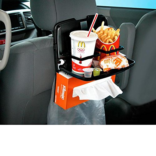 Price comparison product image Seiko Sangyo Japan EB-98 Car Hook Seat Back Organizer Cup Holder Dining Table Tray with LED Light