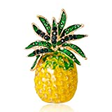 Datuun New Pineapple Brooch Pins Fruit Jewelry Cute for Women Suit Fashion Gift Corsage