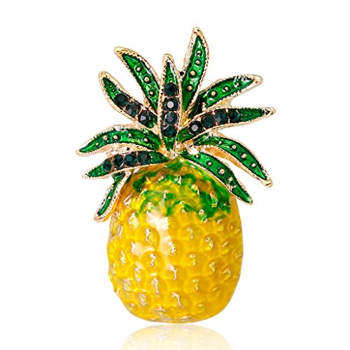 Datuun New Pineapple Brooch Pins Fruit Jewelry Cute for Women Suit Fashion Gift Corsage by Datuun (Image #7)