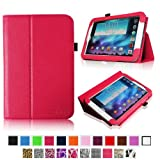 Fintie Slim Fit Folio Case Cover Support Automatic Sleep/Wake Feature for Samsung Galaxy Note 8.0 inch Tablet GT-N5100 / N5110 - Magenta
