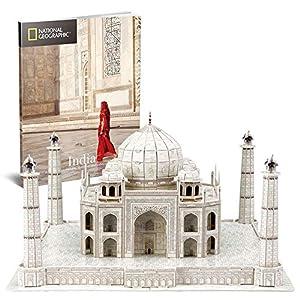 CubicFun 3D Puzzles Models Architecture Kits Adults Kids National Geographic Booklet India Taj Mahal