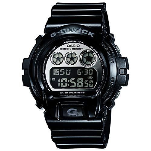 G-shock Dial Silver - Casio G-Shock DW6900NB-1 Silver Mirror Dial Sports Watch (Jet Black)