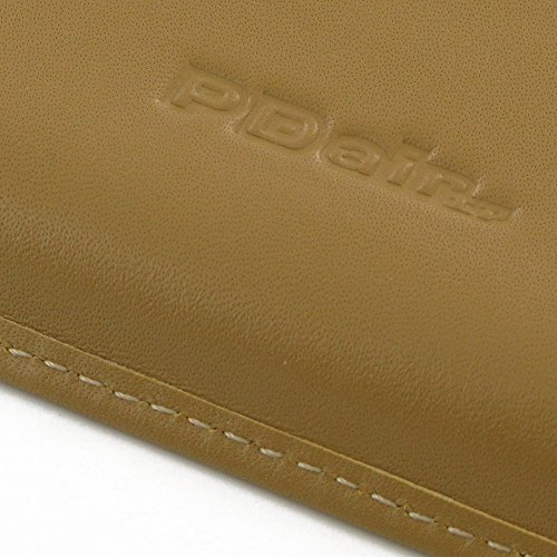 Apple iPhone 7 Plus Case, Leather Case, Pouch, Holster, Wallet Case, Protective Case, Phone Case - Leather Card Wallet (Tan) by Pdair