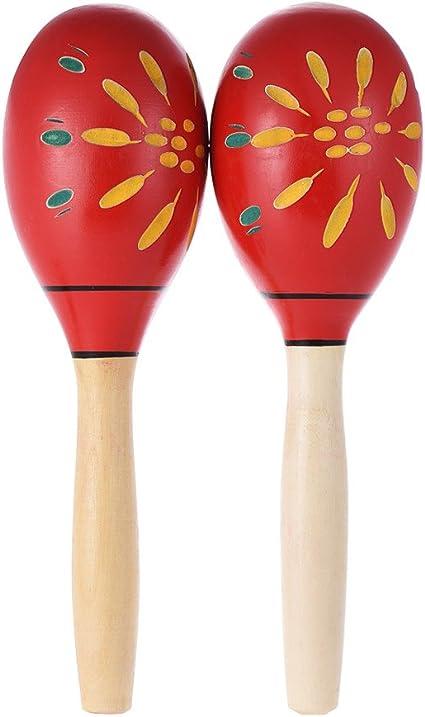 Ammoon par de Maracas Rumba pimentero de madera Maracas Martillo ...