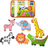 Zocita Children Jigsaw Puzzles, 6-Pack Early Education Puzzles in an Iron Box for 2-3 Years Old Kids...