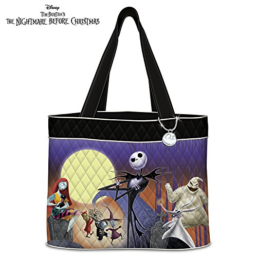 Disney Tim Burton's The Nightmare Before Christmas Women's Quilted Tote Bag by The Bradford Exchange Delight Quilted Bag