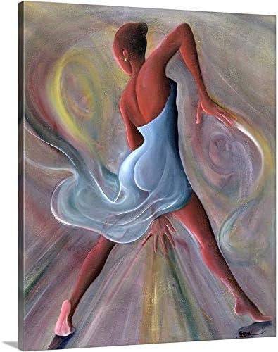 Blue Dress Canvas Wall Art Print