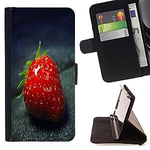 - Strawberry Macro/ Personalizada del estilo del dise???¡¯???¡Ào de la PU Caso de encargo del cuero del tir???¡¯????n del s - Cao - For Samsung Galaxy S3