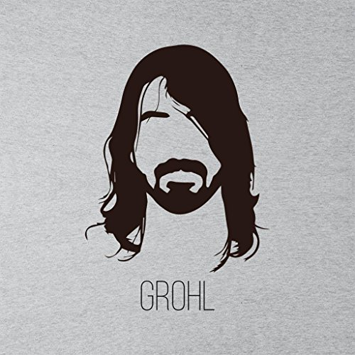 Grey Heather T Shirt Women's Grohl Music Dave Icon Silhouette Bw0TU78q