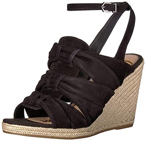 (Sam Edelman Women's Awan Wedge Sandal, Black Suede, 6.5 M US)