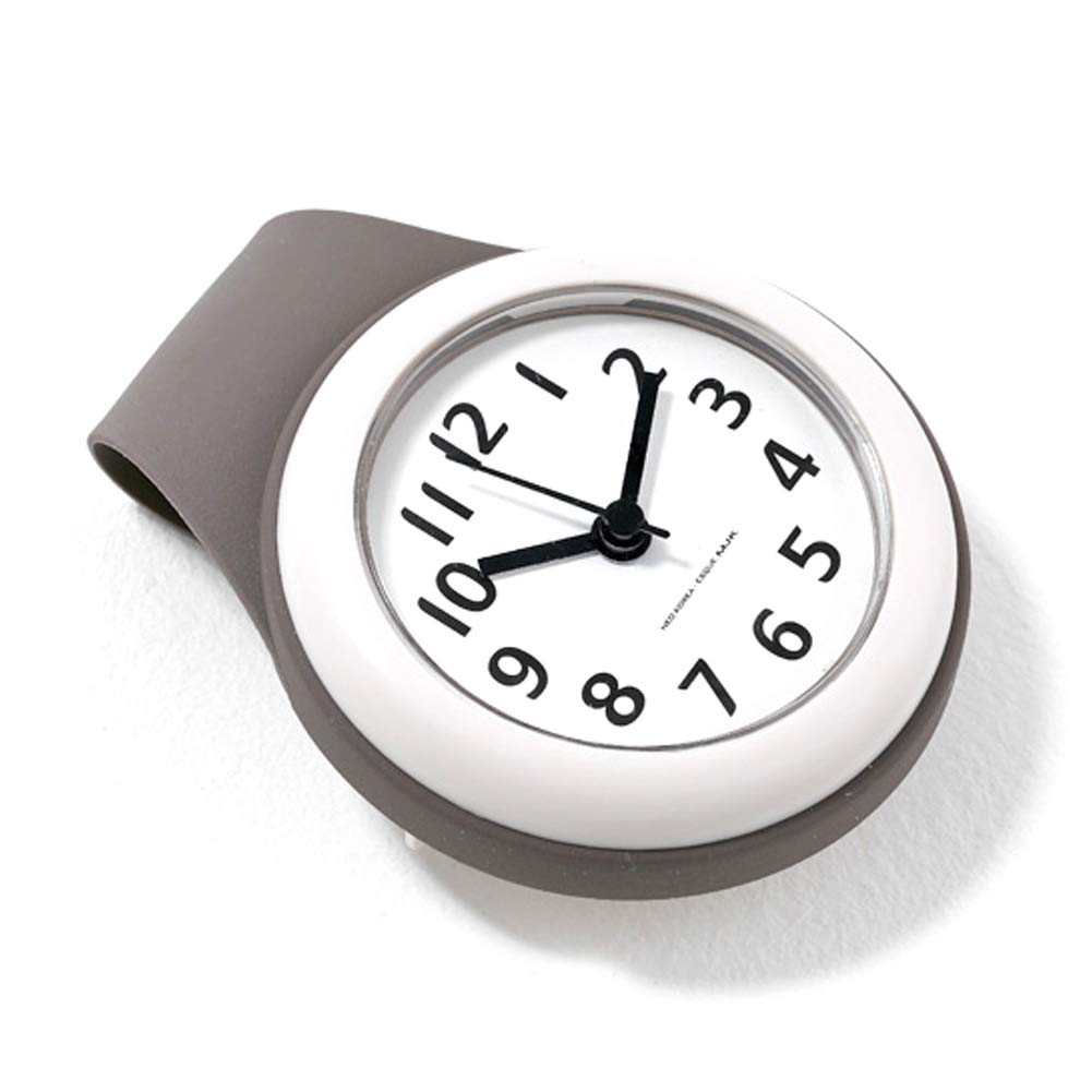 Neo Waterproof Bathroom Shower Clock Analog, 4 inch, Small, Grey by NEO Products