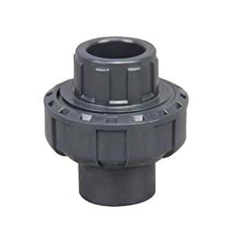 SHYOKO 3//4/'/' PVC Pipe Fitting PVC Union with EPDM O-Ring with EPDM O-Ring 3//4/'/' Socket Schedule 80 Available 1,1.5,2
