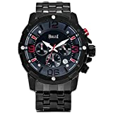 BOLISI F-8205M Men Chronograph Watches With Date Analog and Stainless Steel Bracelet