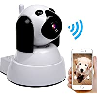 Dog IP Cam Wireless Security Camera HD 720P WiFi Baby Cam Pet Monitor Pan/Tilt with Motion Detection Two-Way Audio Night Vision