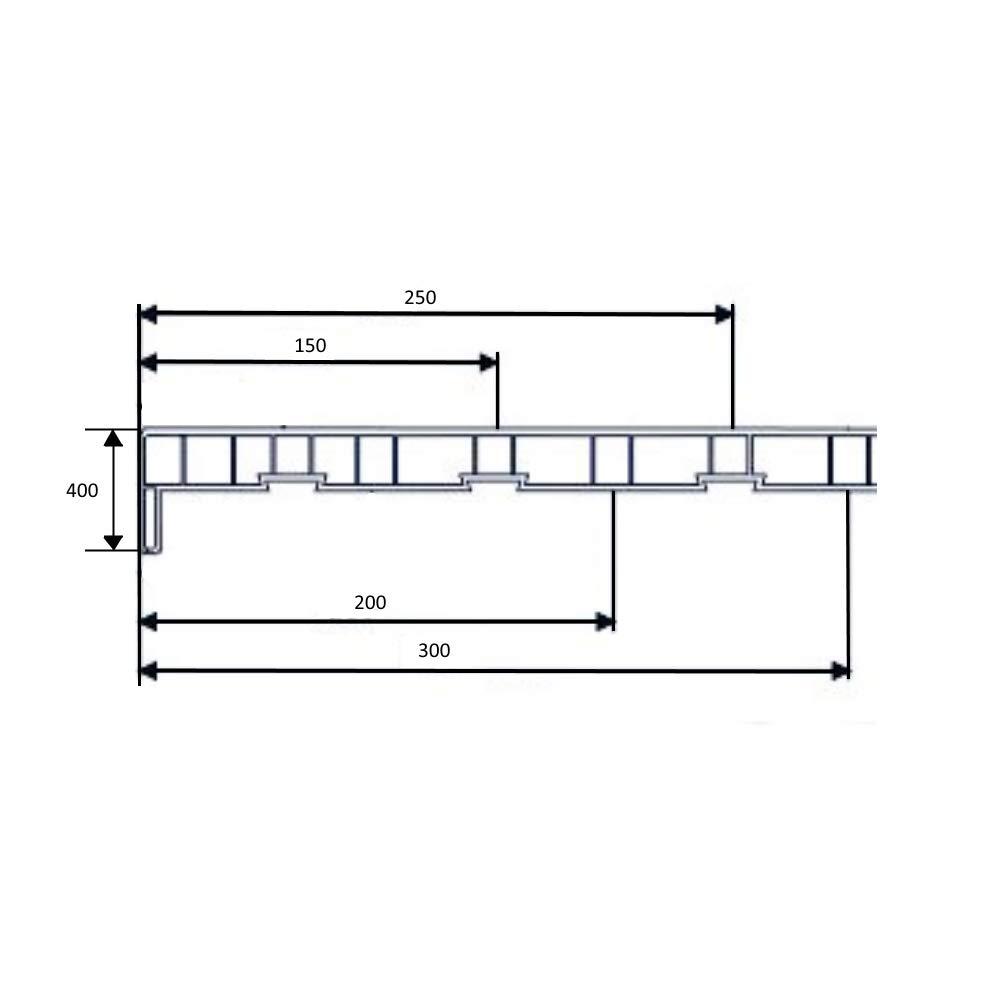 Ausladung: 200 mm Farbe: Matt Wei/ß L/änge: 1600 mm rechteckig Fensterbank Fensterbrett Fensterb/änke