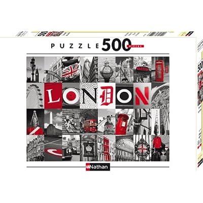 Nathan 87210 Puzzle Classico Souvenir Di Londra 500 Pezzi