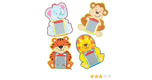 Baker Ross Pizarras Mágicas de Animales de la Jungla (Paquete de 6) Regalos Infantiles para Bolsas de cotillón