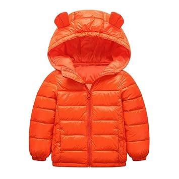 Chaqueta de abrigo para niños Lindo bebé niños niñas abrigo cálido de invierno orejas pequeñas peso ligero capuchas Puffer abajo chaqueta Outwear ropa de ...