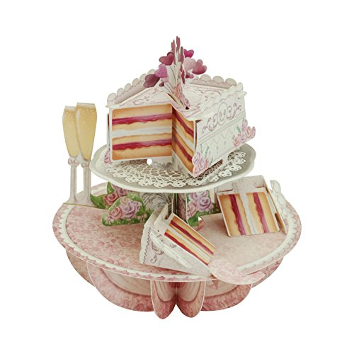 Wedding Cake Card - Santoro Pirouettes Wedding Cake 3D Pop up Card