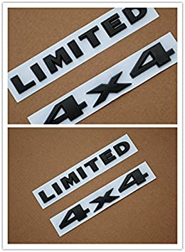 Black Limited 2PCS Off Road Badge Decal Emblem Stickers Decoration 3D ABS for Jeep Wrangler Grand Cherokee Compass Patriot Cherokee Highitem 4x4