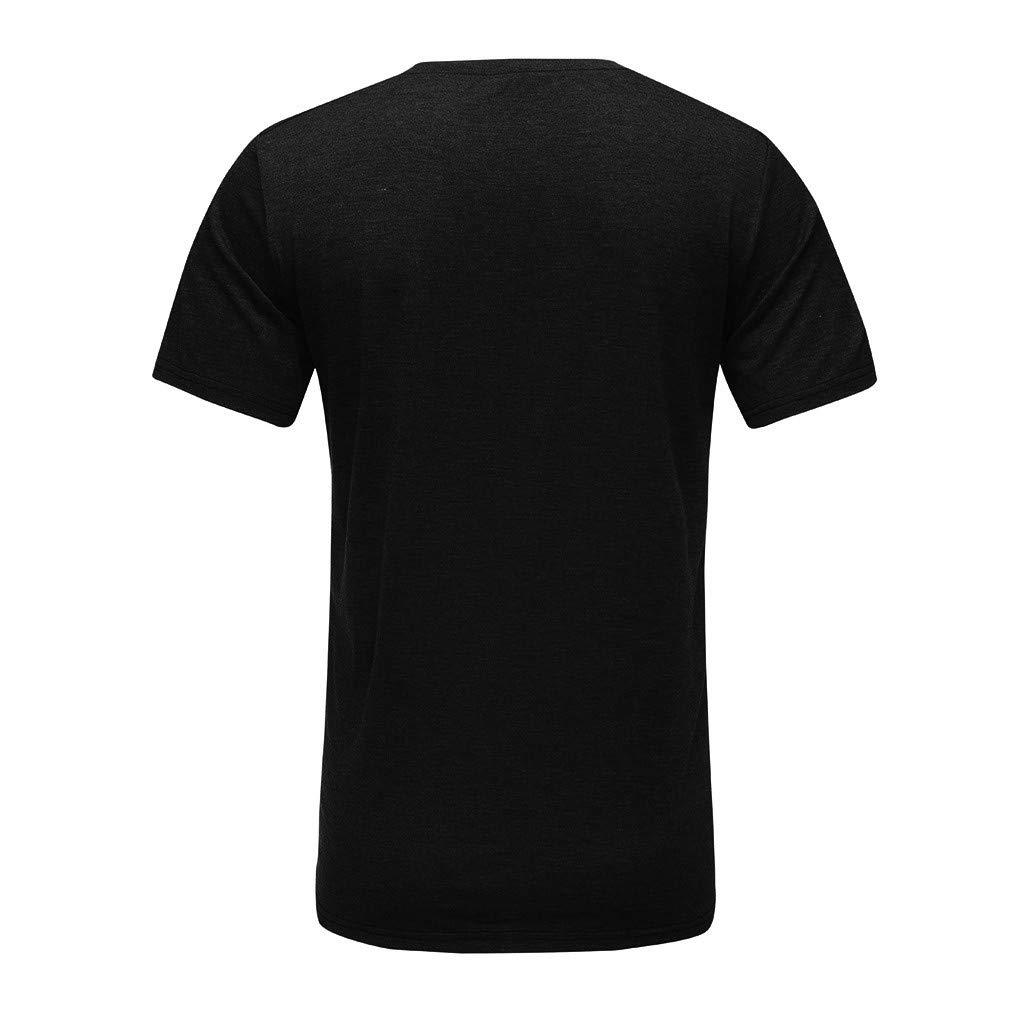 Giulot Mens Work Wear Pocket Ultra Cotton Adult T-Shirt Classic Basic Solid Loose-Fit Beefy Henley Shirt Black