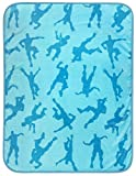Jay-Franco-Fortnite-Emotes-Blue-Travel-Blanket--Measures-40-x-50-inches-Kids-Bedding--Fade-Resistant-Super-Sof