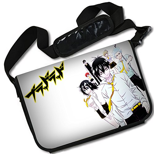 Blood Lad-3 ROUNDMEUP Blood Lad Anime Stylish Messenger Bag//Lap Top Bag MB 15 x 11 Inches