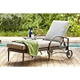 Hampton Bay Posada Patio Chaise Lounge with Gray Cushion 153-120-CL 1000051167
