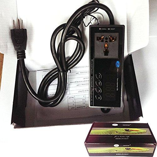 110V Digital Temperature Mircomputer Thermostat Controller Celsius Fahrenheit Switch Aquarium Reptile Incubator Green House Thermostat