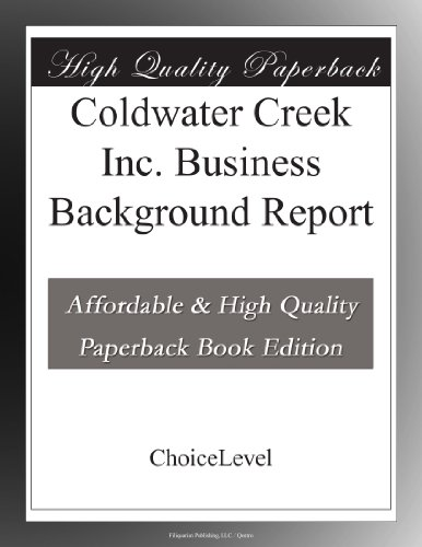 coldwater-creek-inc-business-background-report